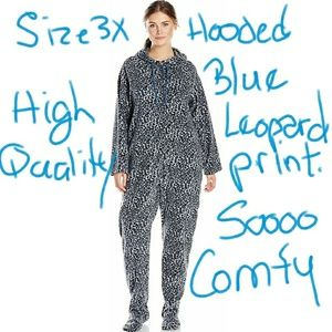 Other - NIP SZ 3X BLUE LEOPARD PRINT Women's